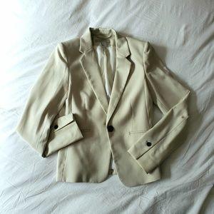H&M Cream Single Button Classic Blazer